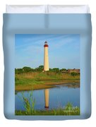Cape May Morning Reflection Duvet Cover