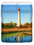 Cape May Point Lighthouse Duvet Cover