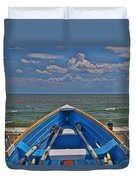 Cape May N J Rescue Boat 2 Duvet Cover