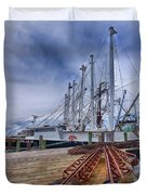 Cape May Scallop Fishing Boat Duvet Cover
