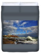 Cape Neddick Lighthouse Duvet Cover