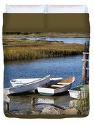 Cape Rowboats Duvet Cover