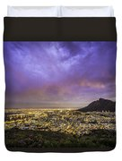 Cape Town From Signal Hill At Sunset Duvet Cover