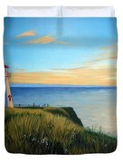 Cape Tryon Lighthouse Duvet Cover