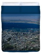 Capetown South Africa Aerial Duvet Cover