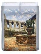 Capistrano Fountain Duvet Cover