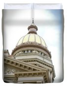 Capital Building Dome Cheyenne Wyoming Vertical 02 Duvet Cover