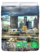 Capital Of The South Atlanta Skyline Cityscape Art Duvet Cover