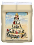 Capitalist Pyramid, 1911 - To License For Professional Use Visit Granger.com Duvet Cover