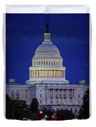 Capitol At Dusk Duvet Cover