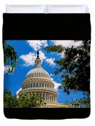 Capitol Of The United States Duvet Cover