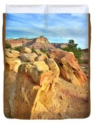 Capitol Reef Boulder Art Duvet Cover