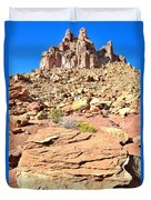 Capitol Reef Castle Duvet Cover