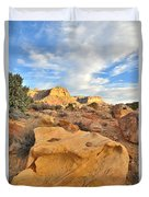 Capitol Reef Sunset Clouds Duvet Cover