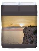 Capo Caccia's Cliff Duvet Cover