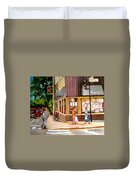 Cappucino  Cafe At Beauty's Restaurant Duvet Cover