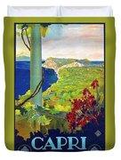 Capri, Italy, Italian Riviera, Scenery Duvet Cover