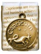 Capricorn Zodiac Lucky Charm Duvet Cover