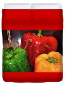 Capsicum In The Wash Duvet Cover