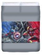 Captain American Vs Ironman Duvet Cover
