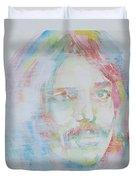Captain Beefheart - Watercolor Portrait.6 Duvet Cover