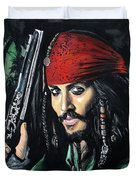 Captain Jack Sparrow Duvet Cover