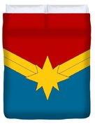 Captain Marvel Logo Duvet Cover