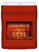Captain Morgan Welcome Florida Keys Duvet Cover