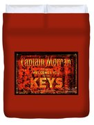 Captain Morgan The Florida Keys Duvet Cover