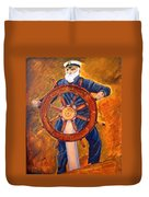 Captian Of The Dawn Duvet Cover