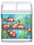 Captivating Clown Fish Duvet Cover