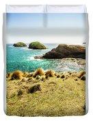 Captivating Coastal Cliff Duvet Cover