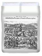 Capture Of Atahualpa, 1532 Duvet Cover