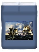 Capture Of H.b.m. Frigate Macedonian By U.s. Frigate United States, October 25, 1812  Duvet Cover