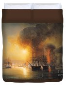 Capture Of The Fort Of Saint Jean Dulloa On 23rd November 1838 Duvet Cover