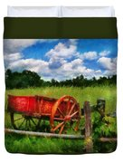 Car - Wagon - The Old Wagon Cart Duvet Cover