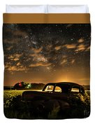 Car And The Milky Way Duvet Cover