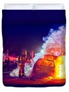 Car Arson  Duvet Cover