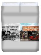 Car - Garage - Cherokee Parts Store - 1936 - Side By Side Duvet Cover