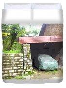 Car Garage Duvet Cover