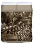 Car On A Wooden Railroad Trestle Circa 1916 Duvet Cover