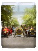 Car - Race - Hold On To Your Hats 1915 Duvet Cover