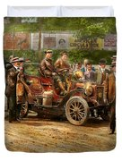 Car - Race - The End Of A Long Journey 1906 Duvet Cover