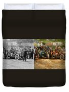 Car - Race - The End Of A Long Journey 1906 - Side By Side Duvet Cover
