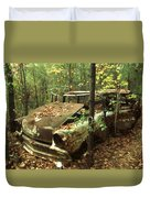 Car Wreck In The Forest Duvet Cover