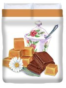 Caramel Chocolate Duvet Cover