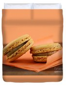 Caramel Orange Macarons Duvet Cover