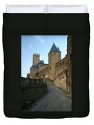 Carcassonne Castle Duvet Cover