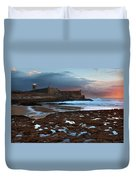 Fort In Carcavelos Beach Duvet Cover