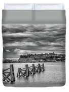 Cardiff Bay Dolphins Mono Duvet Cover